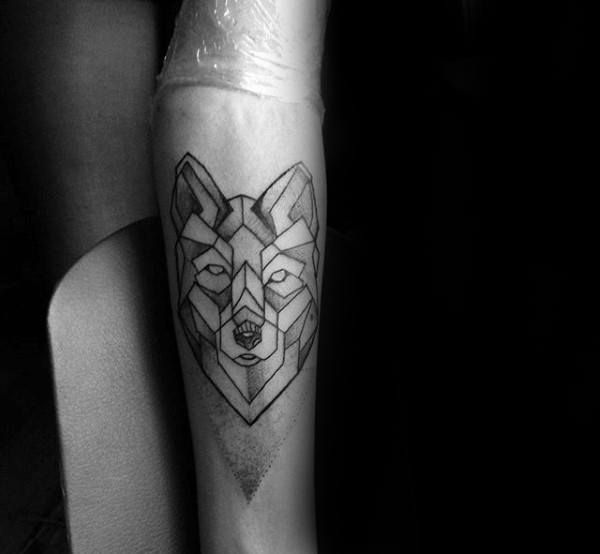 90 Geometric Wolf Tattoo Designs For Men Manly Ink Ideas Tattoo Designs Men Geometric Wolf Tattoo Geometric Wolf