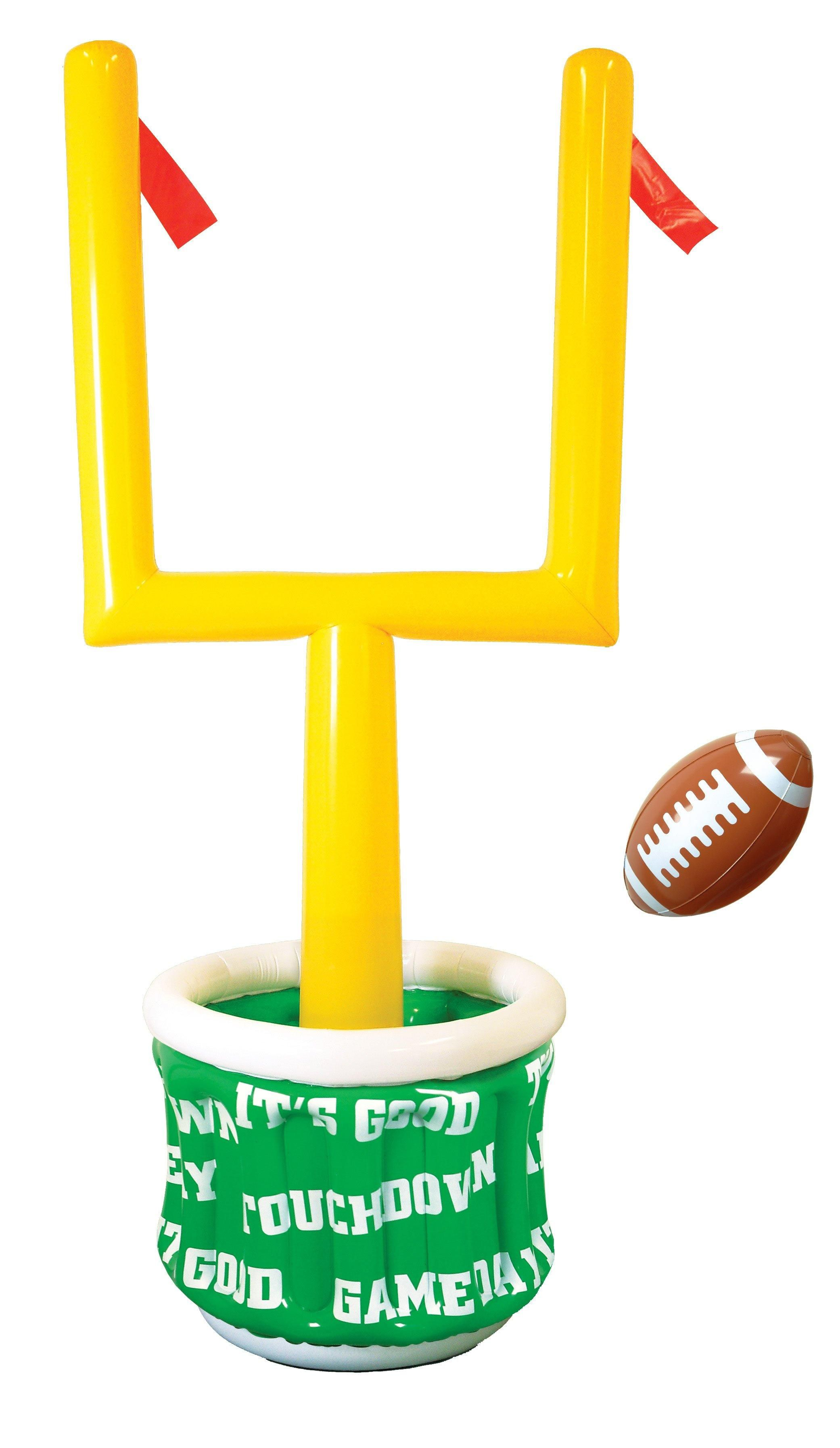 6u0027 Inflatable Goal Post Cooler With Football From BirthdayExpress.com