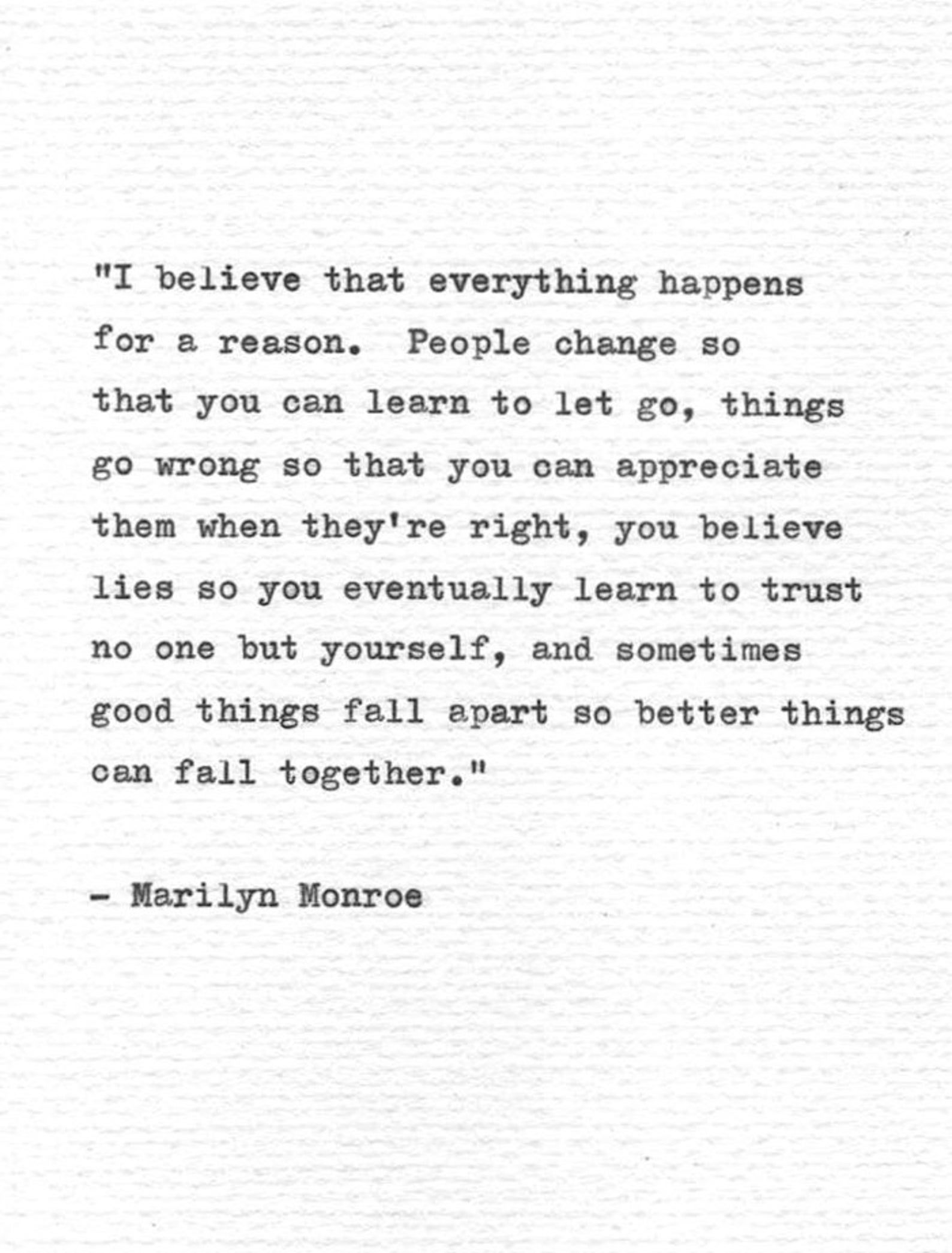 Marilyn Monroe Typewriter Quote