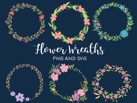 Photo of Floral wreaths, hand drawn wreaths, doodle clipart, drawn wreaths, PNG, SVG, vector wreaths, wedding, cute wreaths, wreaths, floral frames