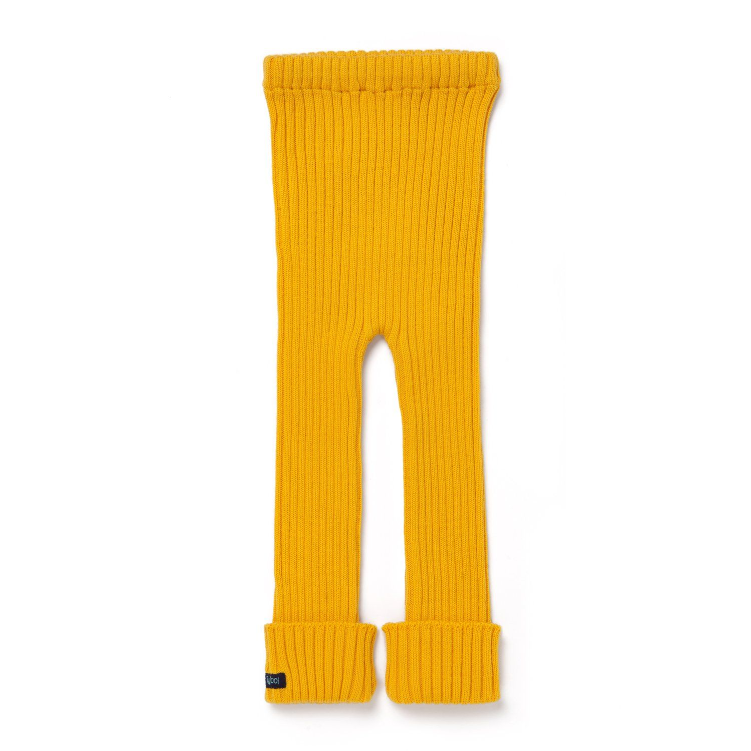 Tubes Knit Leggings Sunset Park Yellow Knit Leggings Wool Leggings Wool