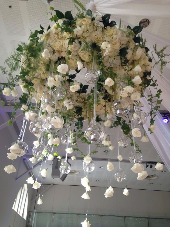 Fresh Flowers Chandelier Wedding Ideas Wedding