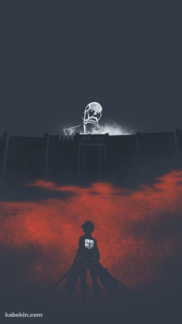進撃の巨人 塀の外の巨人のiphone壁紙 Personagens De Anime Anime