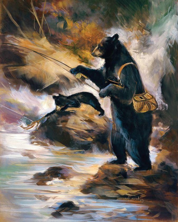 Dad Bear-ing down on it.