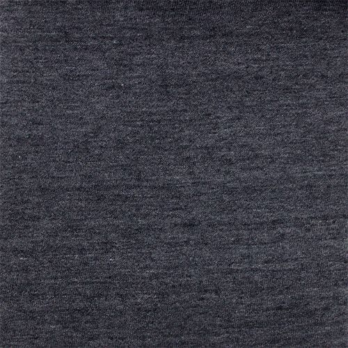 7b59af999e8 Dark Gray Heather Solid Cotton Jersey Tri Blend Knit Fabric - Top quality tri  blend heather effect solid cotton jersey knit in a dark gray color.