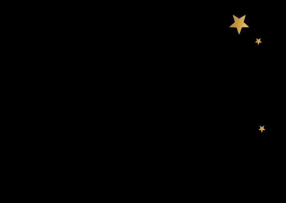 Kerstkaart Fijne Feestdagen zwart en goud   Kaartje2go