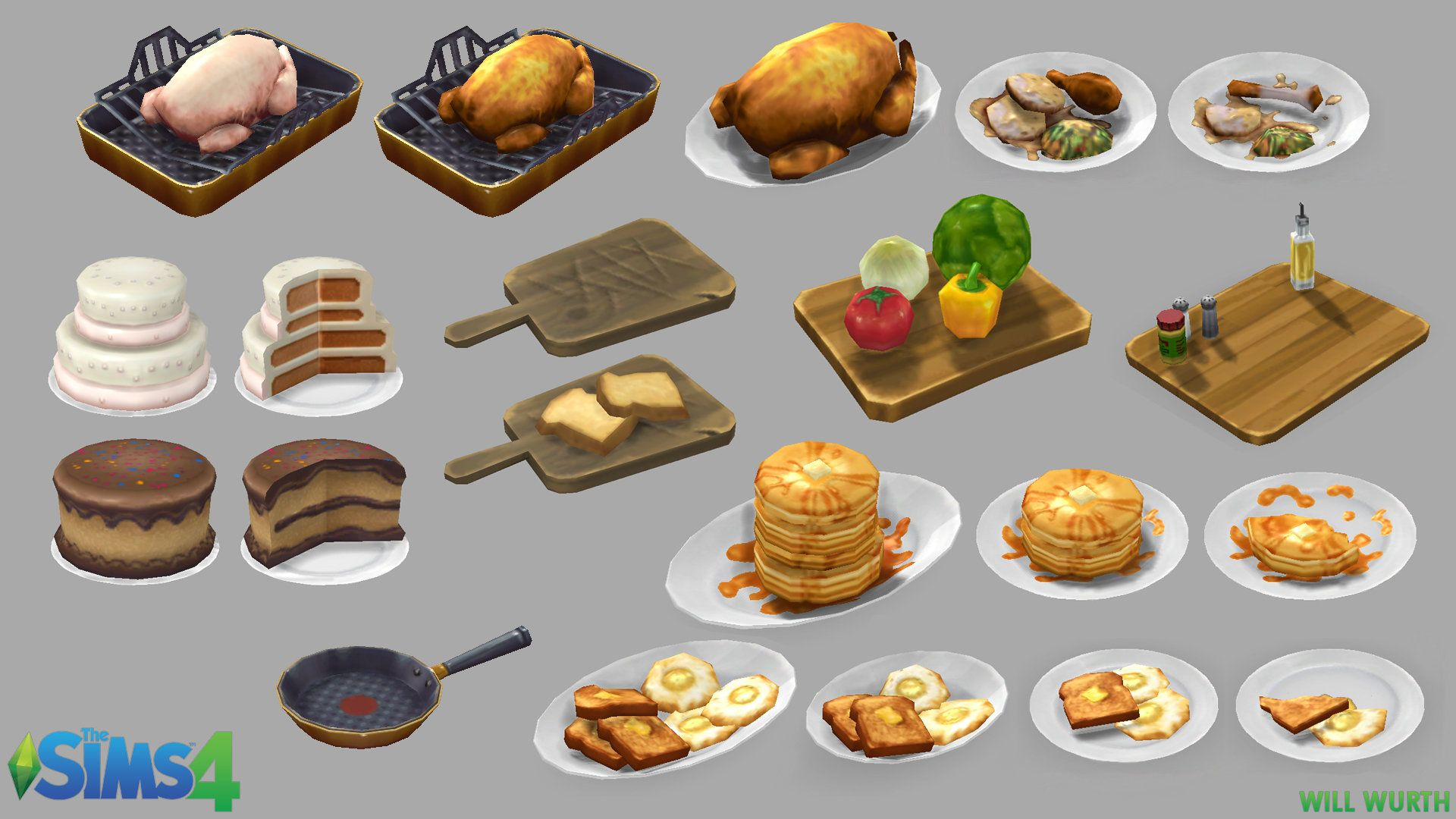 ArtStation - The Sims 11 Object Art, Will Wurth  Sims 11 kitchen
