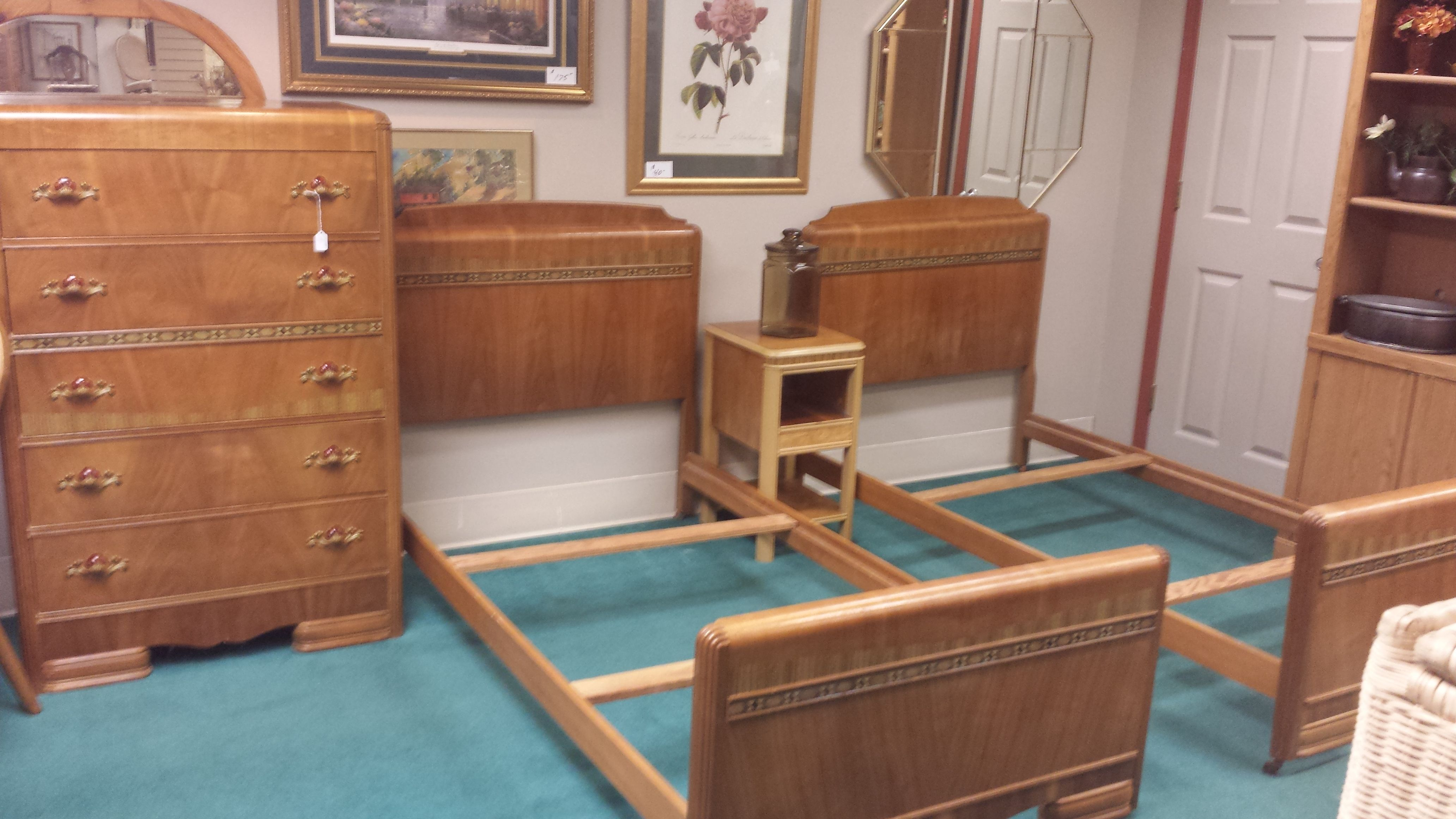 Antique Waterfall Bedroom Set ONLY 495 Furniture