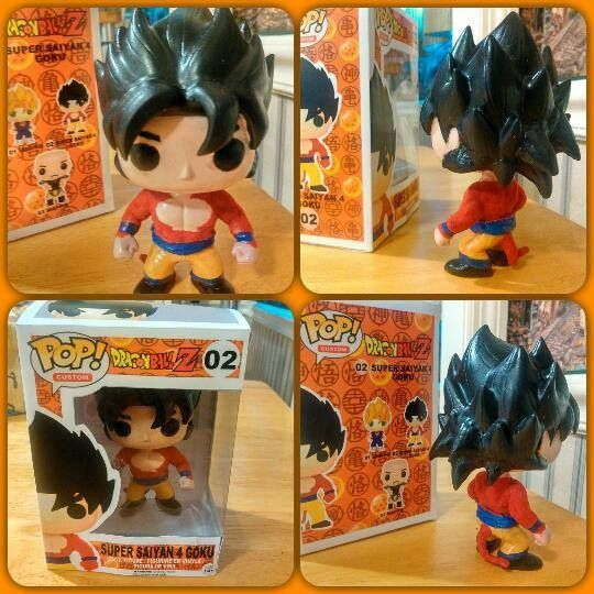 Custom Funko Pop Super Saiyan 4 Goku By Dstyles Customs