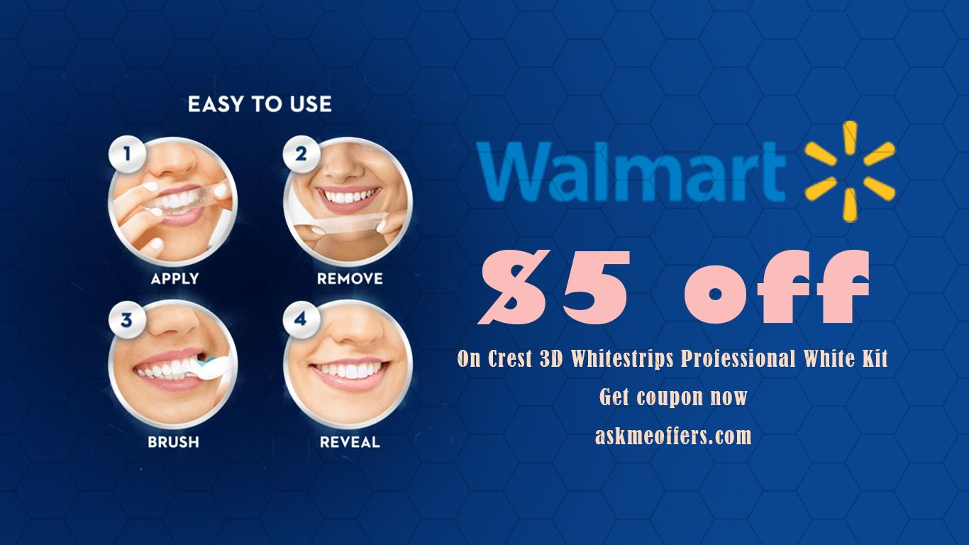 5 Off Crest 3d Whitestrips Professional White Kit On Walmart Com Get Coupon Now Walmart Coupon Walmart Walmart Grocery Coupon