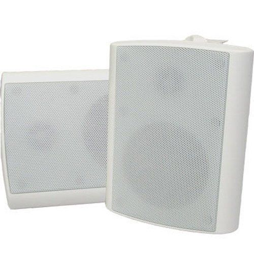 New Indoor Or Outdoor Weatherproof Hd Mountable White Speaker Pair Ts425odw By Theater Solutions 44 99 Specifica Outdoor Weatherproof White Speakers Speaker