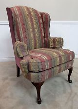 Ordinaire VINTAGE THOMASVILLE QUEEN ANNE WING BACK CHAIR, ARM CHAIR