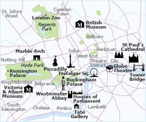 map of london with sites and neighborhoods - Google Search | travel ...