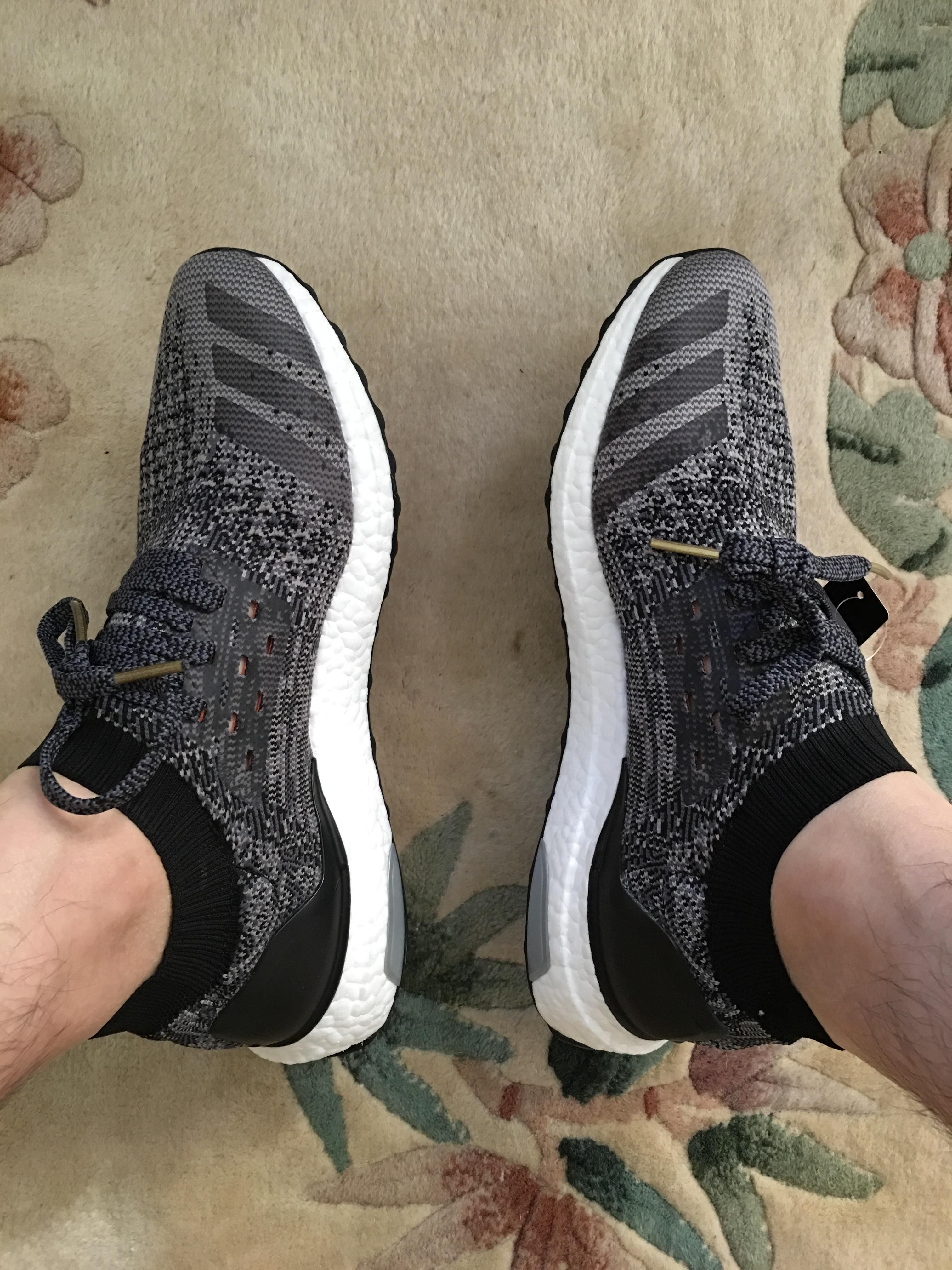 On Feet Photos of the adidas Ultra Boost Uncaged Triple Black delicate