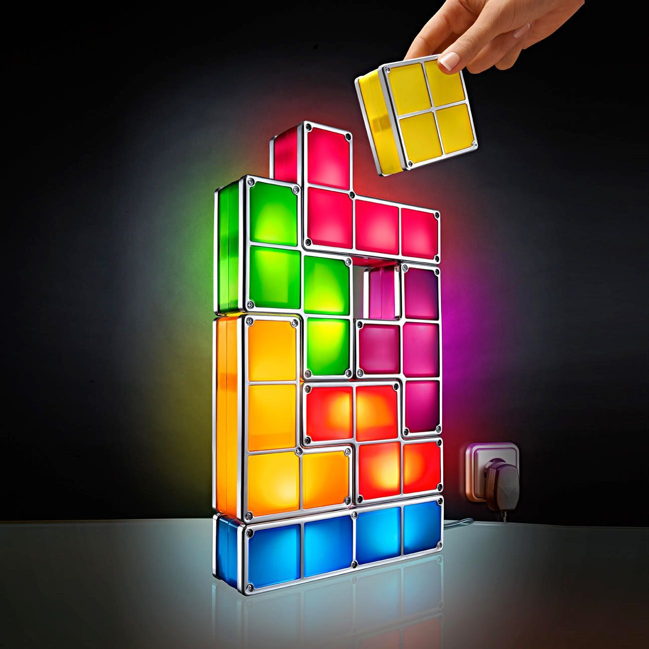 Hey Why Would You Even Get A Regular Lamp When You Can Get A Light You Can Play With Heck Playing With This Ligh Puzzle Lights Led Desk Lamp Light Sculpture