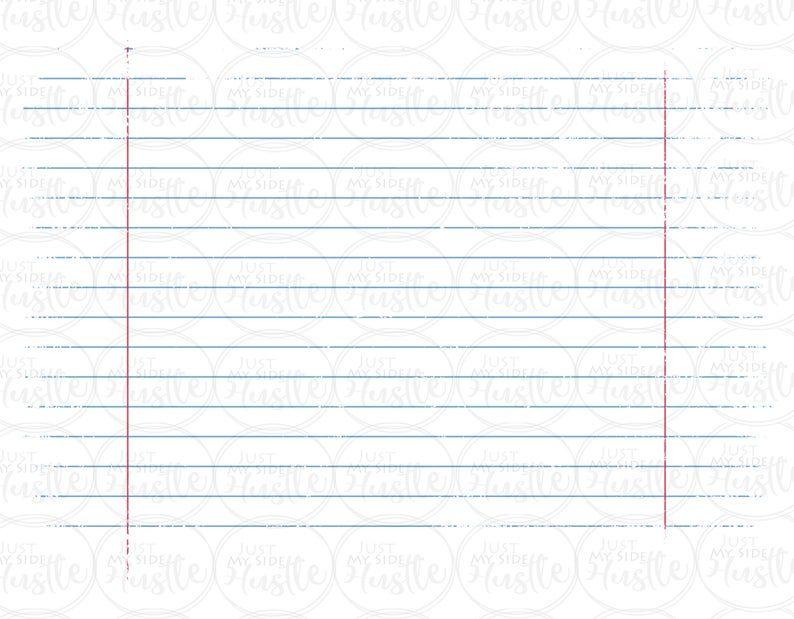Notebook Paper Png Distressed School Paper Sublimation Etsy Diy Prints Notebook Paper Digital