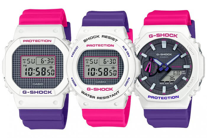 G Shock Baby G Purple Pink Throwback 1990s Series G Shock G Shock Protection Baby G