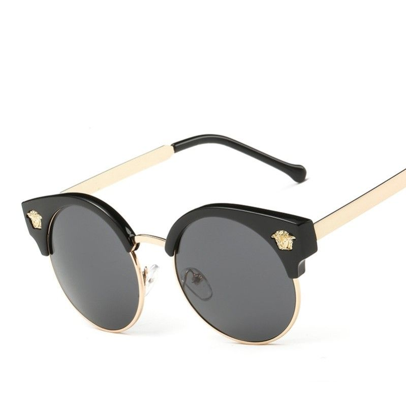 Click To Buy 2017 European And American Big Retro Sunglasses