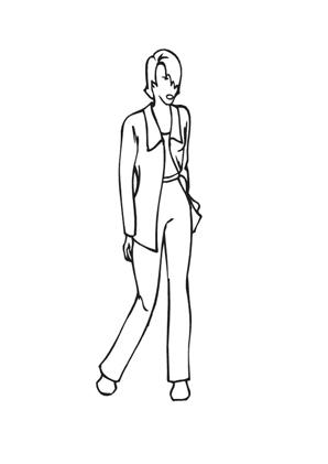 ausmalbild topmodel im business look zum ausmalen. ausmalbilder | malvorlagen | models |