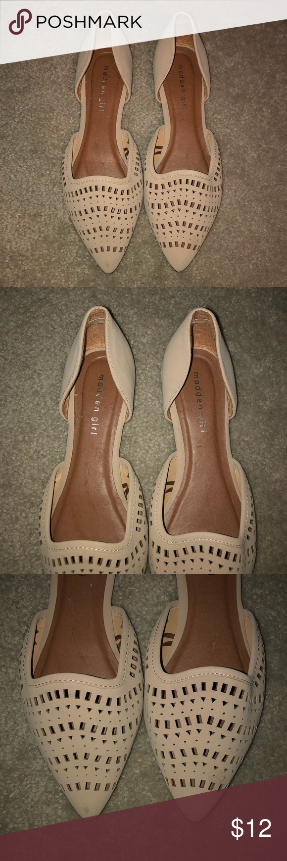 9e5d7dde04c Madden Girl Flats Never worn! Size 8.5. Nude in color. Madden Girl Shoes  Flats   Loafers