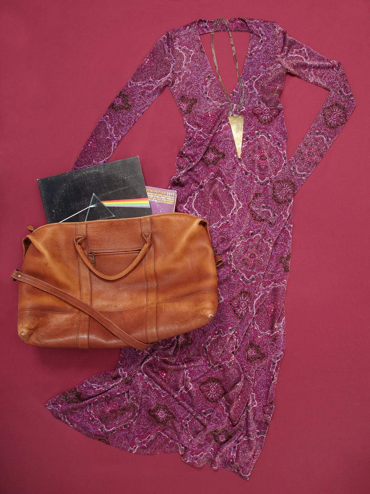 Spanish Moss Hemingway leather valise overnight bag