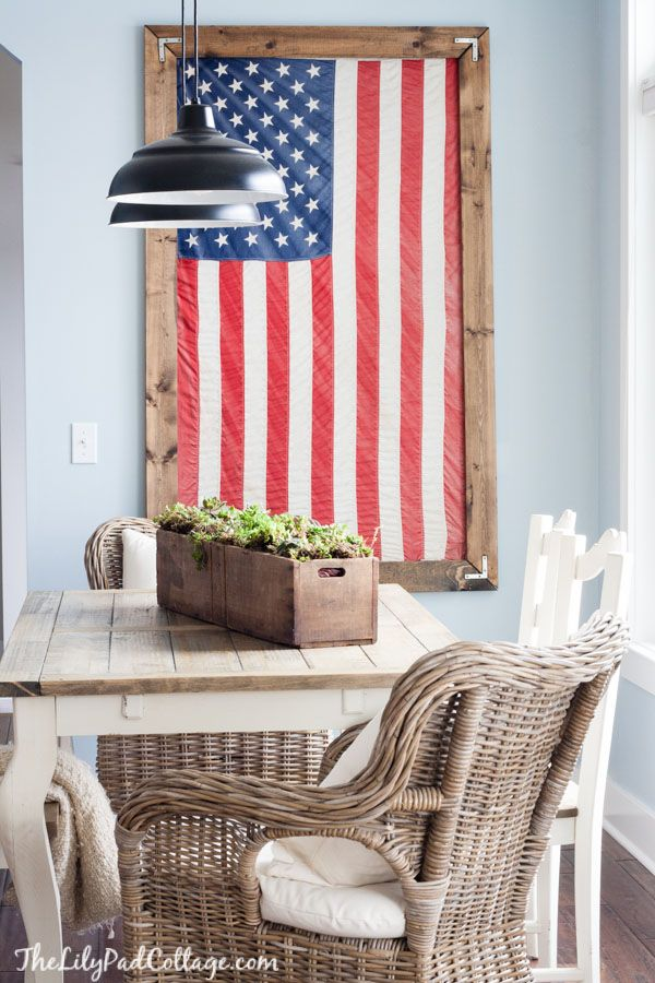 Winter Dining Room Decor | Room decor, Room and Framed american flag