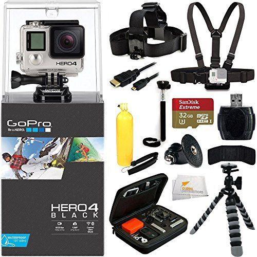 GoPro HERO4 BLACK + 32GB Bundle 12PC Accessory Kit. Includes SanDisk Extreme 32GB + Reader + Head Strap + Chest Strap + Micro HDMI Cable + Handheld Monopod + Premium Rugged Hard Case + Bobber Handle + Gripster + Memory Card Wallet + Microfiber Cleaning Cloth  http://www.lookatcamera.com/gopro-hero4-black-32gb-bundle-12pc-accessory-kit-includes-sandisk-extreme-32gb-reader-head-strap-chest-strap-micro-hdmi-cable-handheld-monopod-premium-rugged-hard-case-bobber-handle/