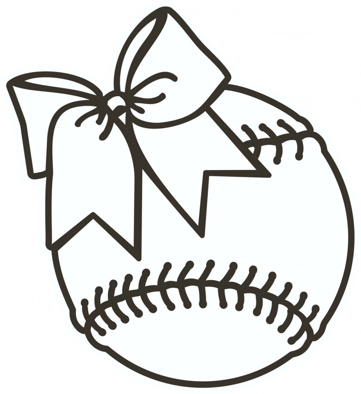 Softball Clipart Black And White