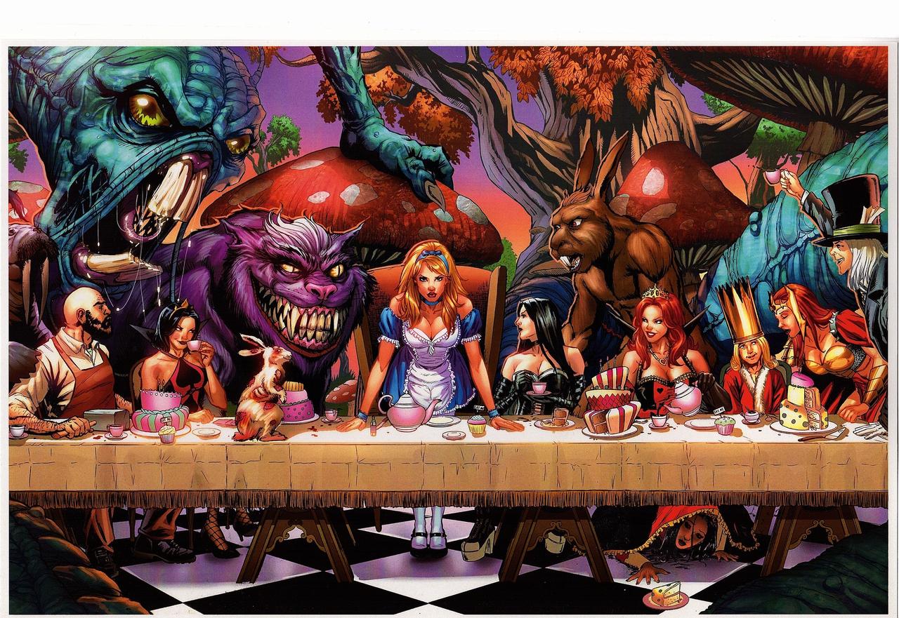Wonderland #36 Cover A GFT Zenescope NM Metcalf