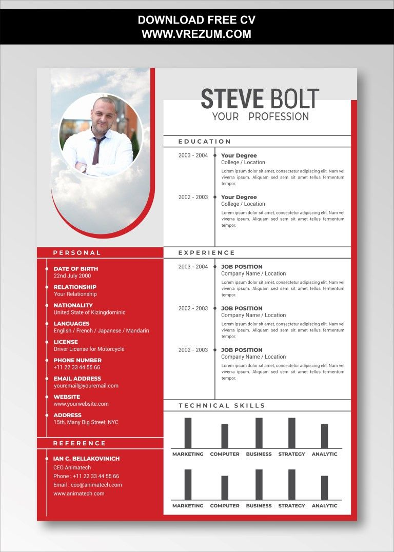 (EDITABLE) FREE CV Templates For Electrical Engineer in