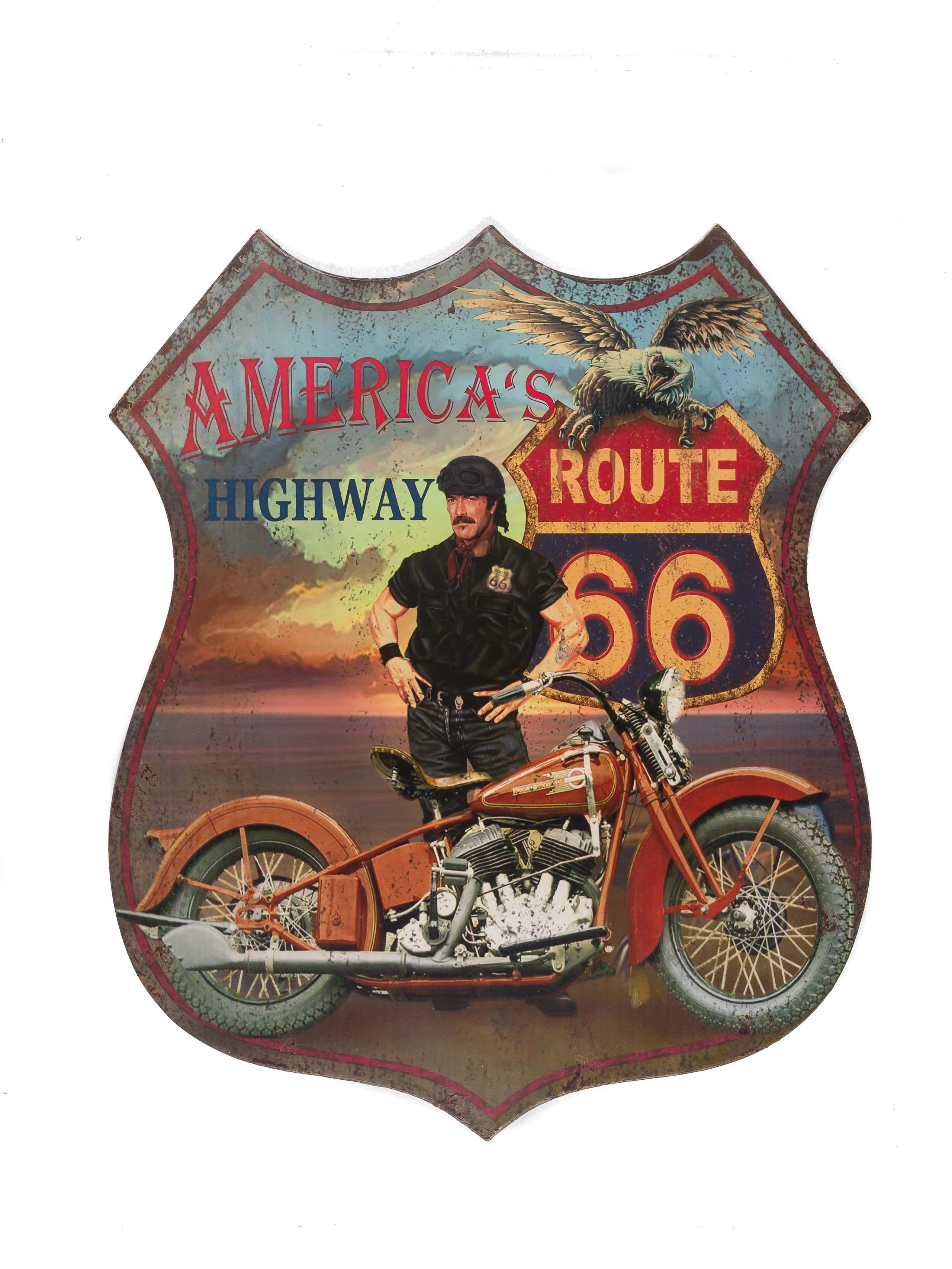 Nostalgie Blechschild Motorrad Wanddeko Wandbild Legends Retro