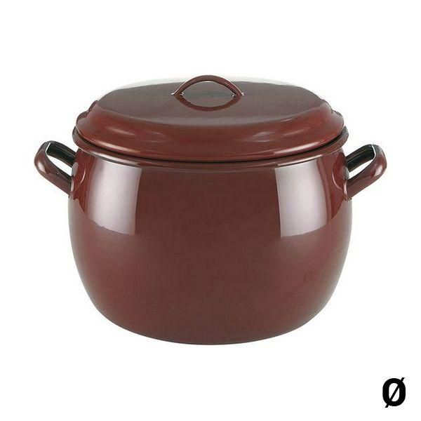 Casserole with Lid Quid Classic Brown Enamelled Steel - 26 cm
