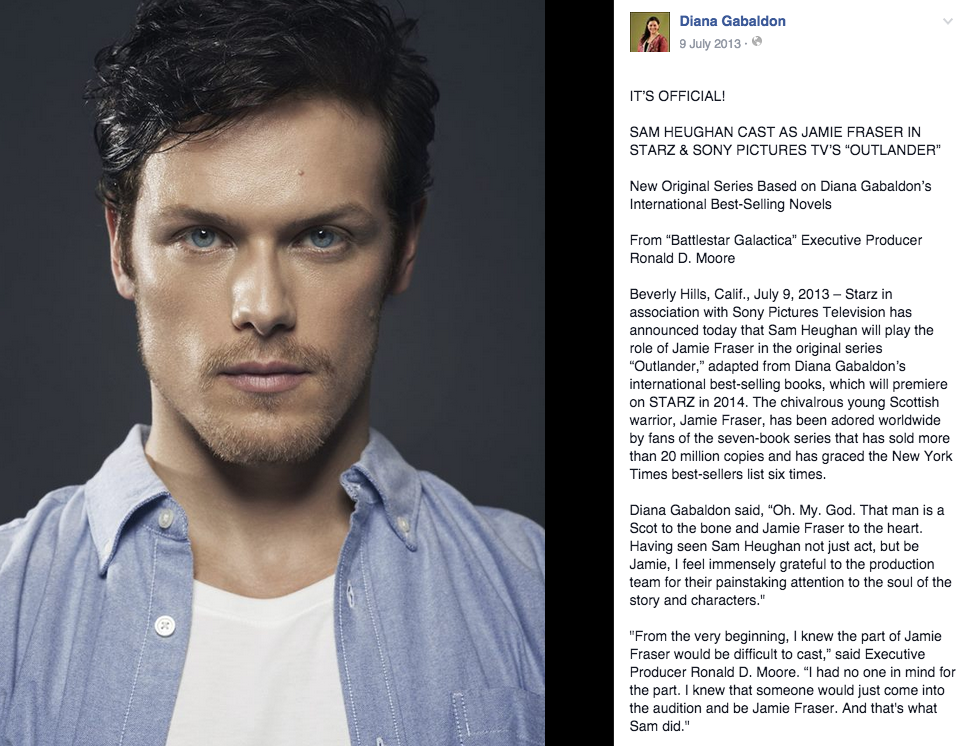 Sam Heughan On Fans And Fame His Relationship With Caitriona Balfe And Outlander Series 2 Sam Heughan Outlander Outlander Series