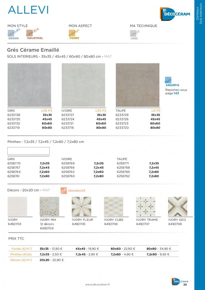 Catalogue-Decoceram-2017 Carrelage-Decoration Pdf 350 - Interactiv