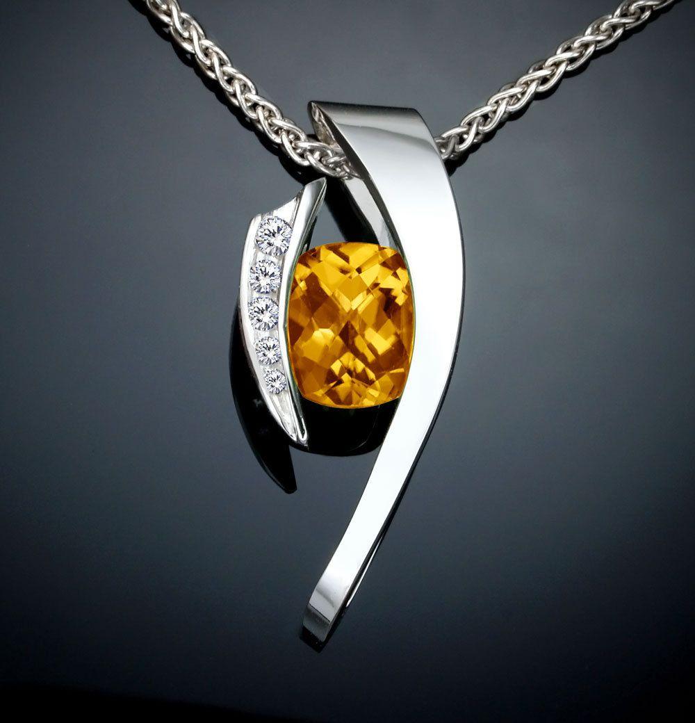 Citrine necklace citrine statement necklace november birthstone