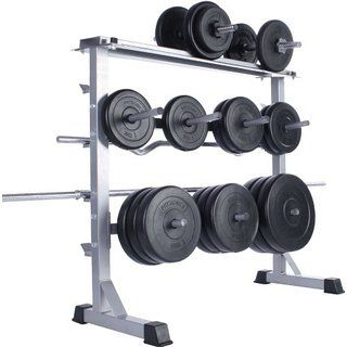 Physionics Dumbbell Barbell Weights Storage Rack Stand Holder