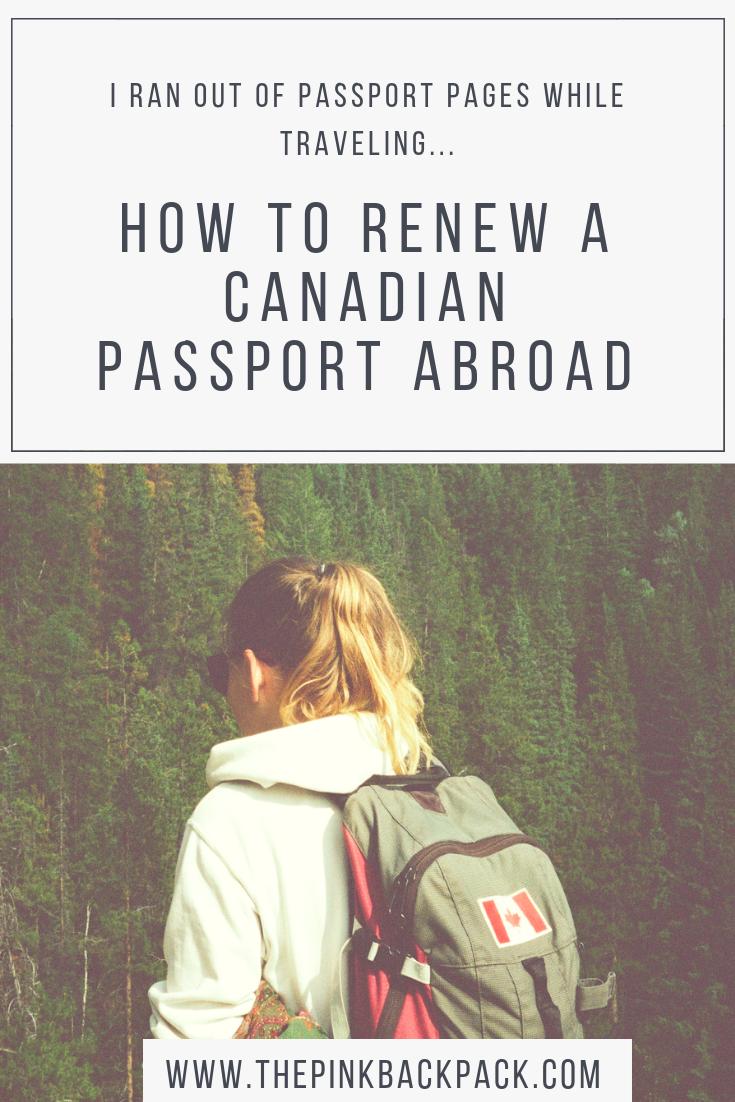 renewing my canadian passport