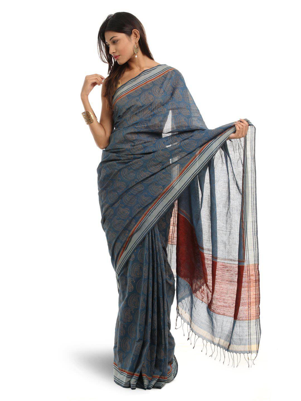 f5c9599f1f Fabindia Maroon Sari | Myntra. Rs. 2,960 | Sarees | Sari, Saree ...