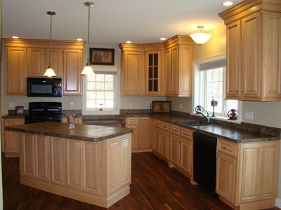 42 inch kitchen cabinets | natural maple cabinetry with ...