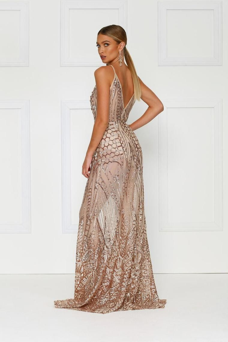 Cristal Gown - Rose Gold #formal #gold #dress #crystal #maxi #prom ...