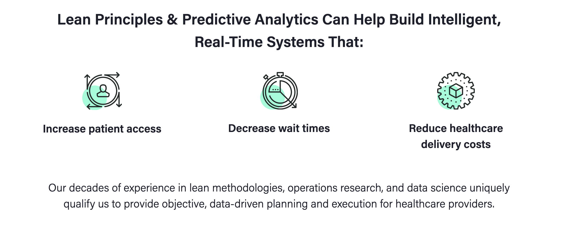 Leantaas Icons Better Healthcare Predictive Analytics Health Care
