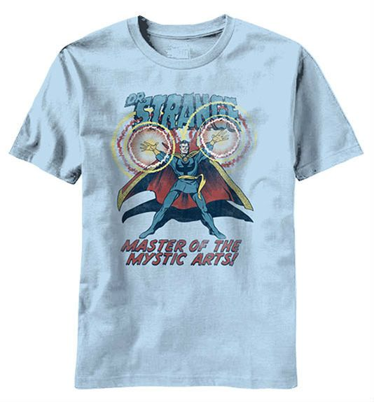 Doctor Strange Official Licensed T-Shirt New Red Shield Vintage Marvel