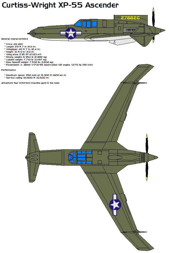 Curtiss-Wright XP-55 by bagera3005.deviantart.com on @DeviantArt