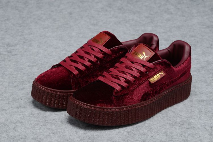 official photos 1133c aa928 Rihanna X Puma Fenty Suede Creepers Purple Wine | Rihanna ...