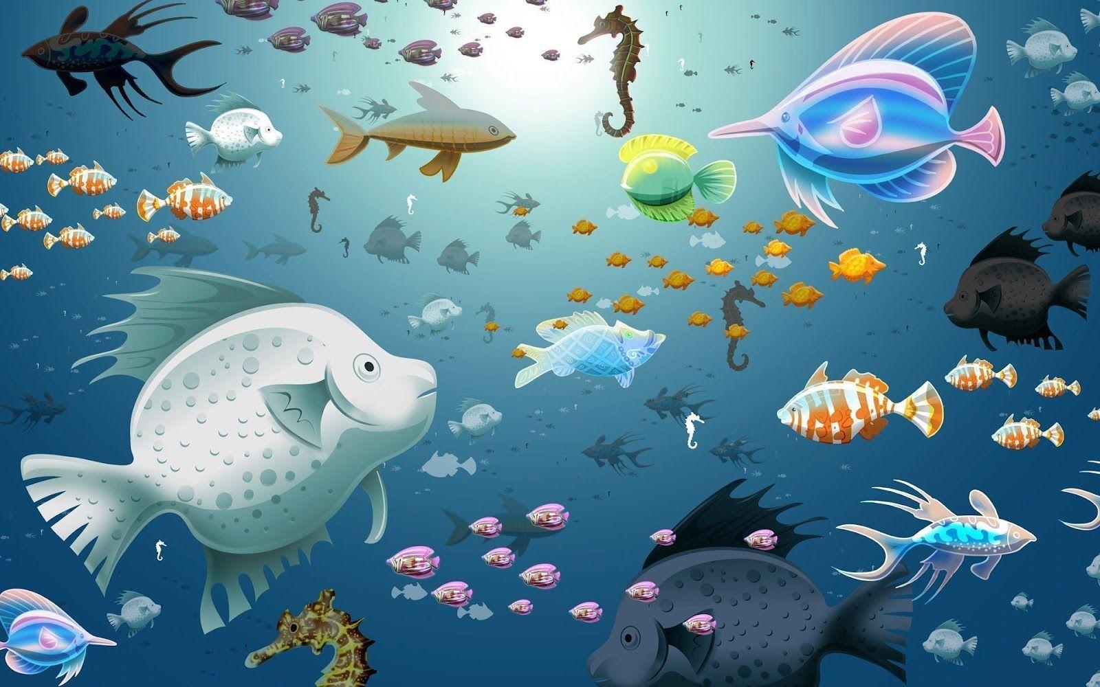 Fish Tank 3d Live Wallpaper For Pc Arka Plan Resimleri Akvaryum Masa 252 St 252 Arka Plan