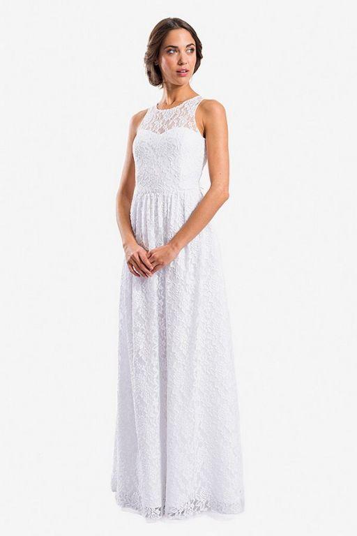 Vestidos de novia casuales largos