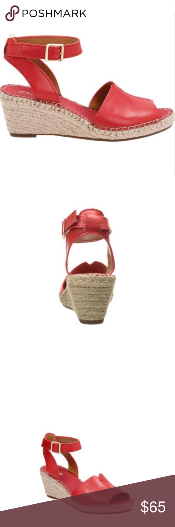 280e71fbcf3 Clarks Artisan Petrina red Espadrilles sandals 7 New without box Clarks  Artisan Womens Petrina Selma Espadrille
