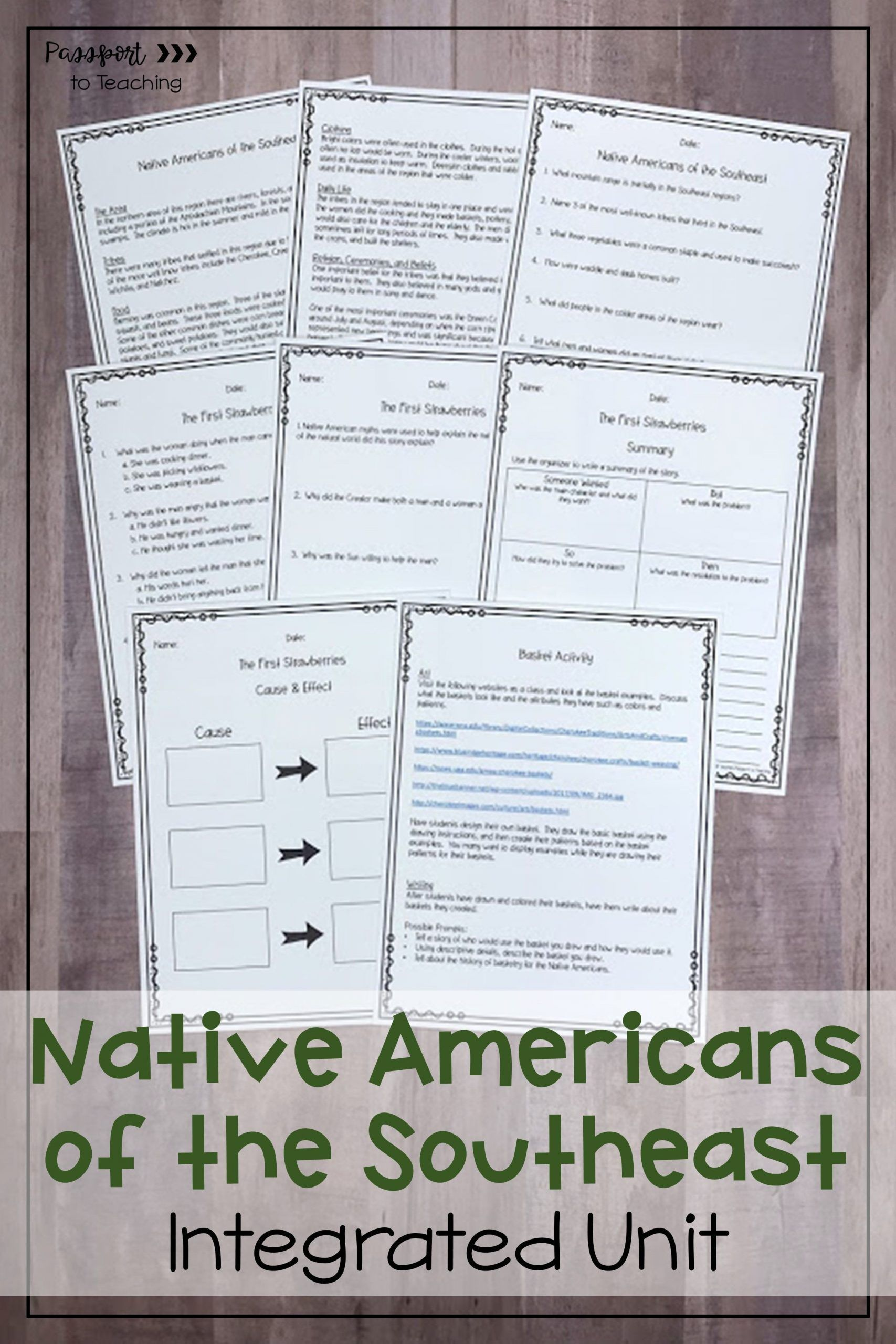 small resolution of Native American Worksheets 5th Grade Native Americans Of the southeast  Integrated Unit   Picture book activities
