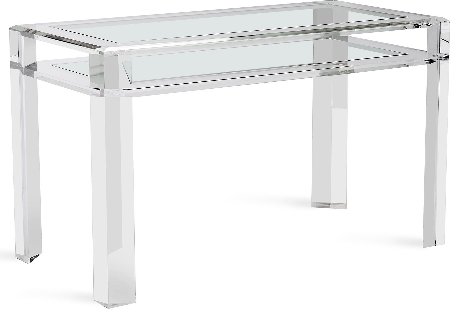 Handsome And Bold The Acrylic And Glass Surrey Desk Adds Terrific