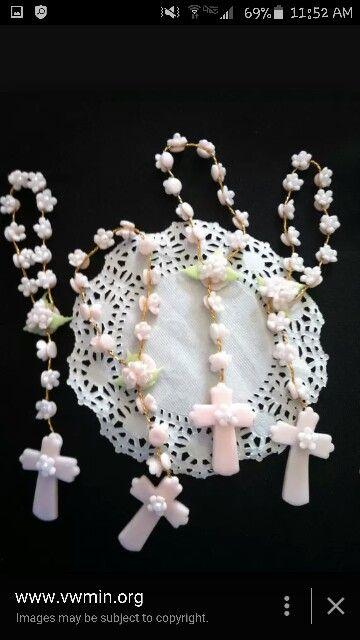 Migajon Mini Rosaries Manualidades Angelitos Para Bautizo